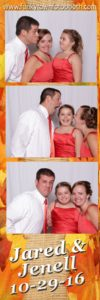 Guests in our photo booth at a Toledo wedding
