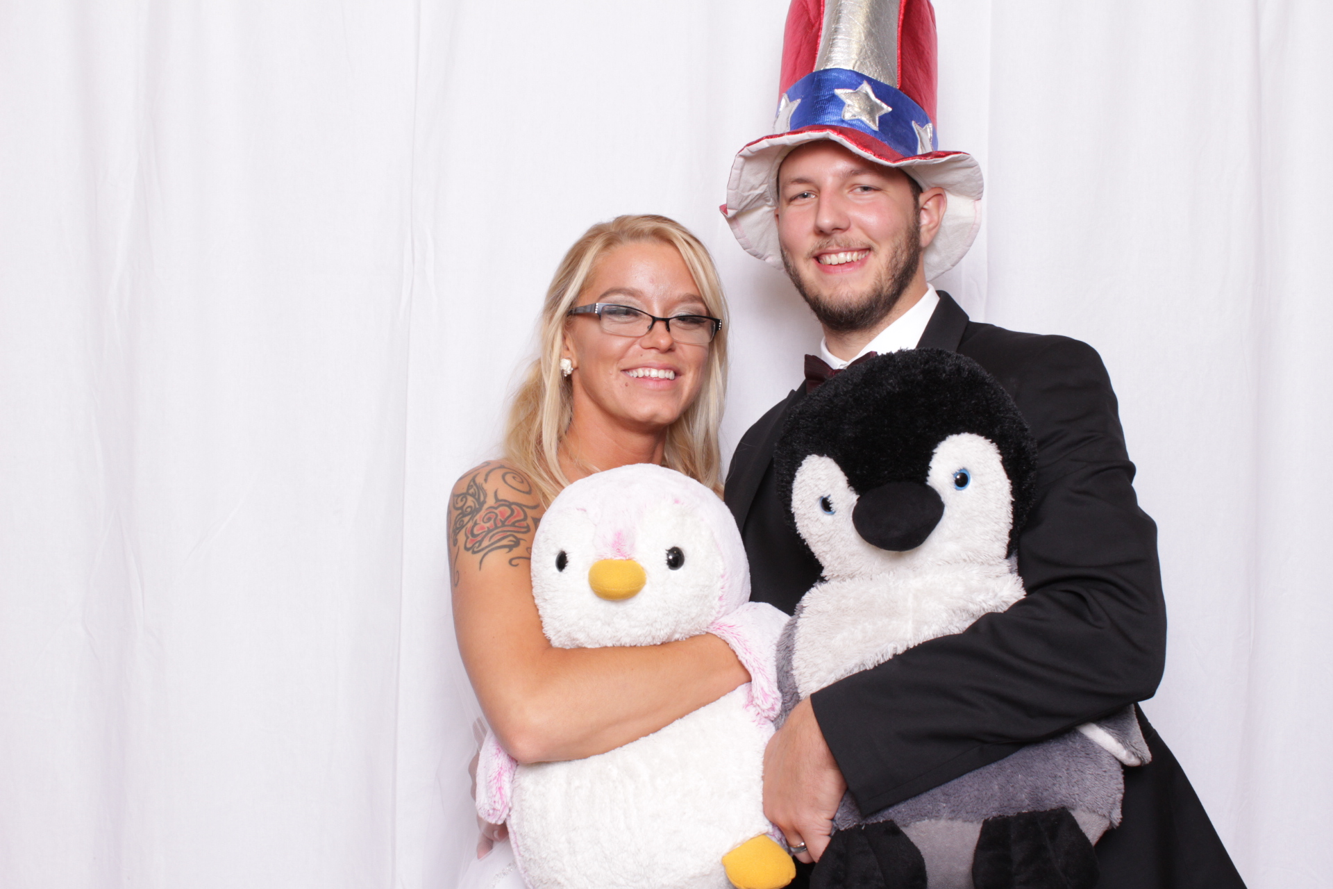 Penguin props in photo booth