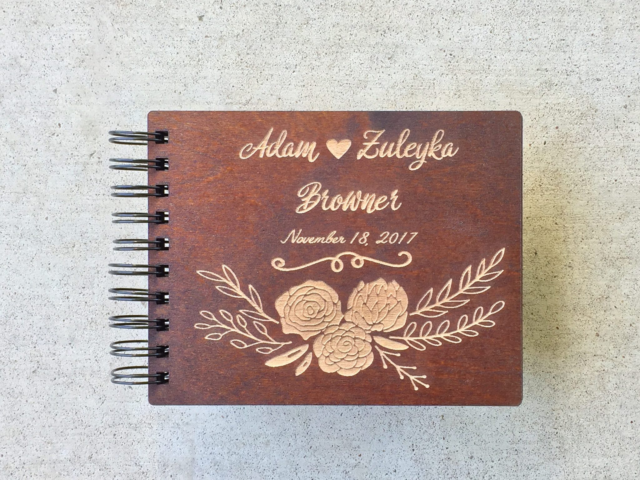 Custom wedding album cover