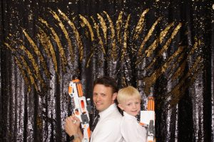 Photo booth pictures, star wars props, premium backdrop
